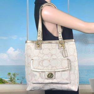 Coach Penelope Signature Linen Tote Carryall